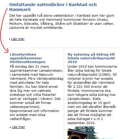 Skärmdump från Länsstyrelsen Värmland